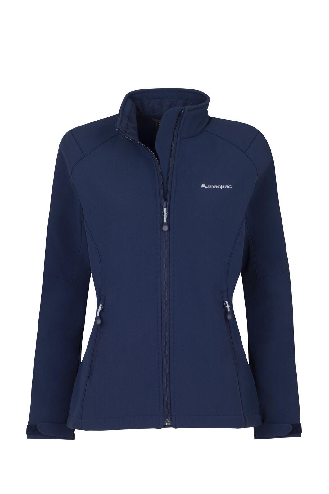 Macpac Sabre Softshell Jacket - Women's, Black Iris, hi-res