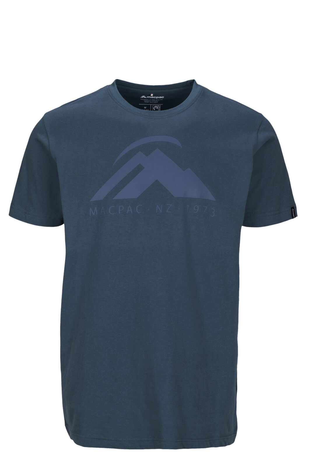 Macpac Mountain Fairtrade Organic Cotton Tee — Men's, Orion Blue, hi-res