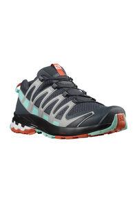 Salomon Women's XA Pro 3D V8 Trail Running Shoes, Ebony/Yucca/Mecca Orange, hi-res