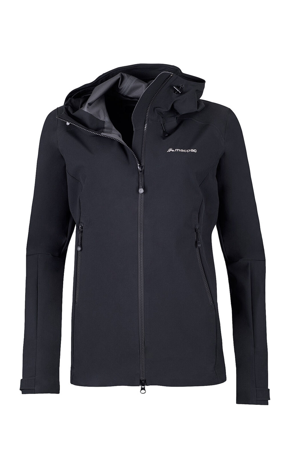 Macpac Fitzroy Alpine Series Softshell Jacket — Women's, Black, hi-res