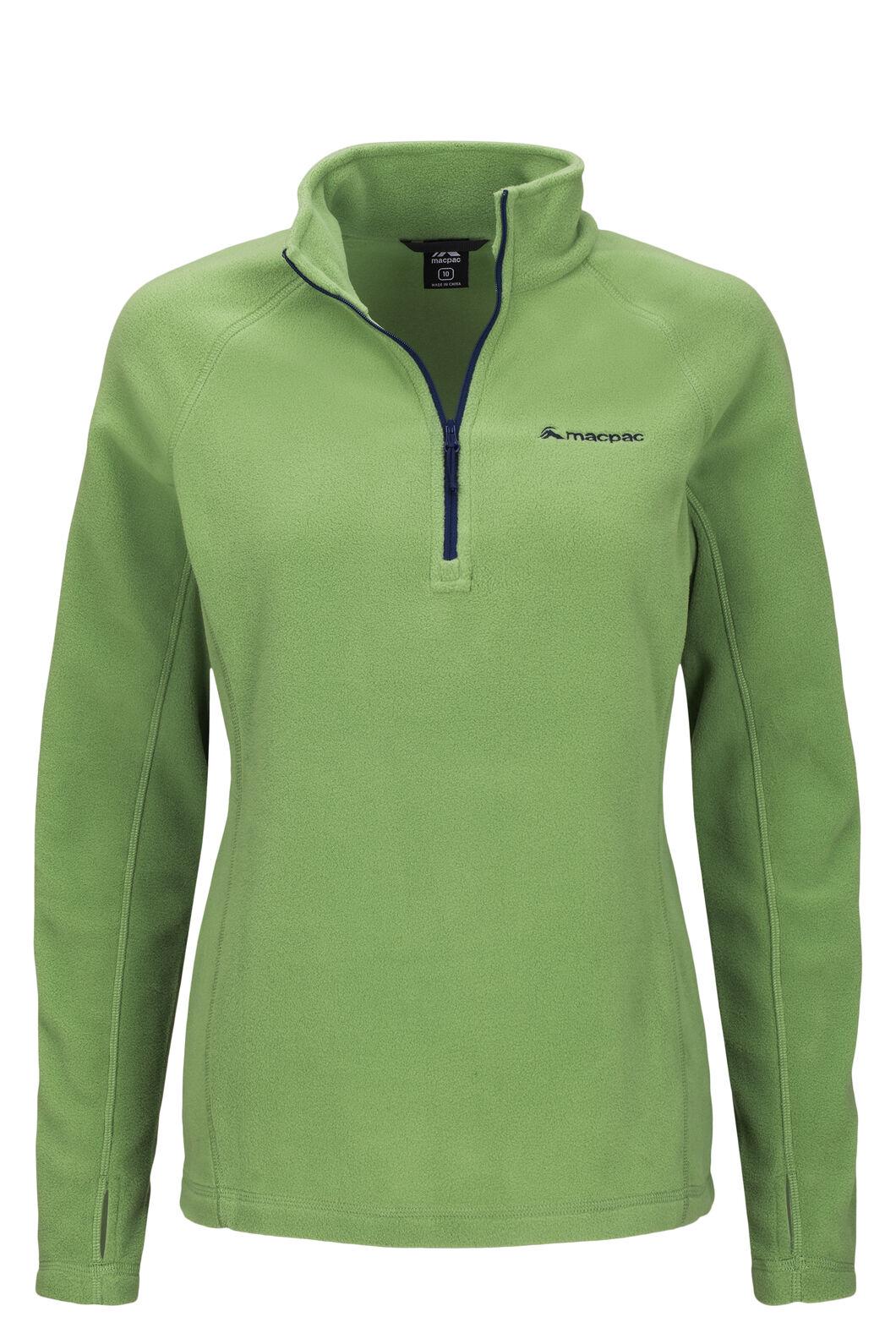 Macpac Tui Polartec® Micro Fleece® Pullover — Women's, Jade Green, hi-res