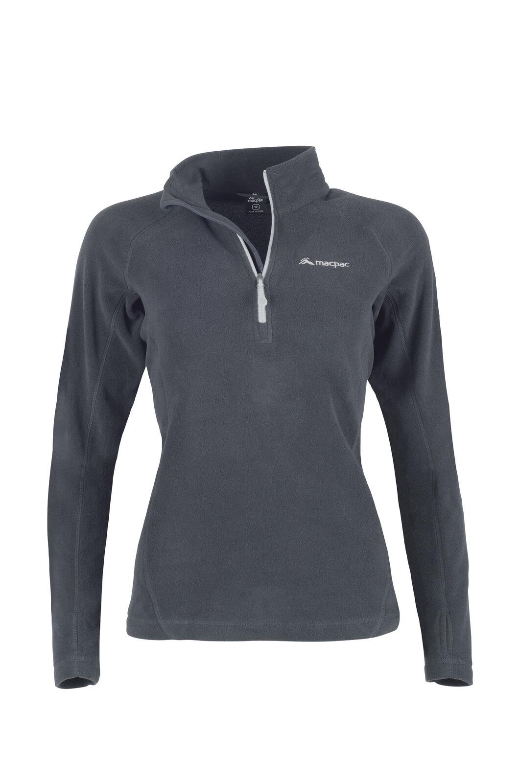 Macpac Tui Polartec® Micro Fleece® Pullover — Women's, Black, hi-res