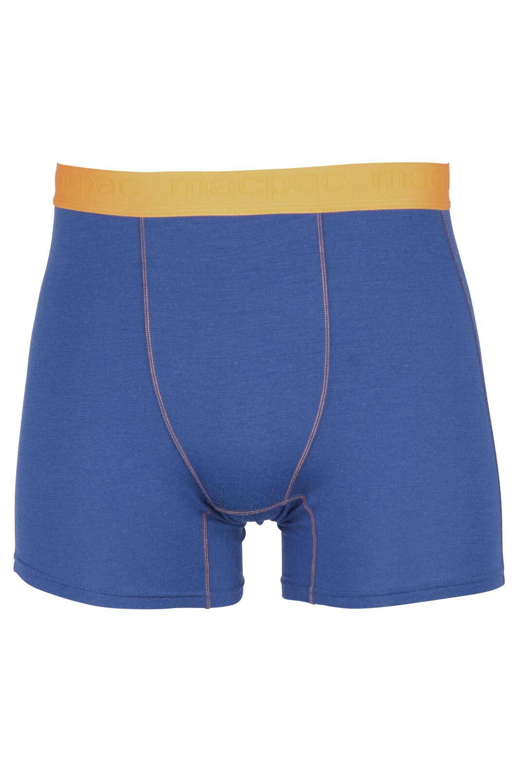 Macpac 180 Merino Boxers - Men's, Estate Blue, hi-res