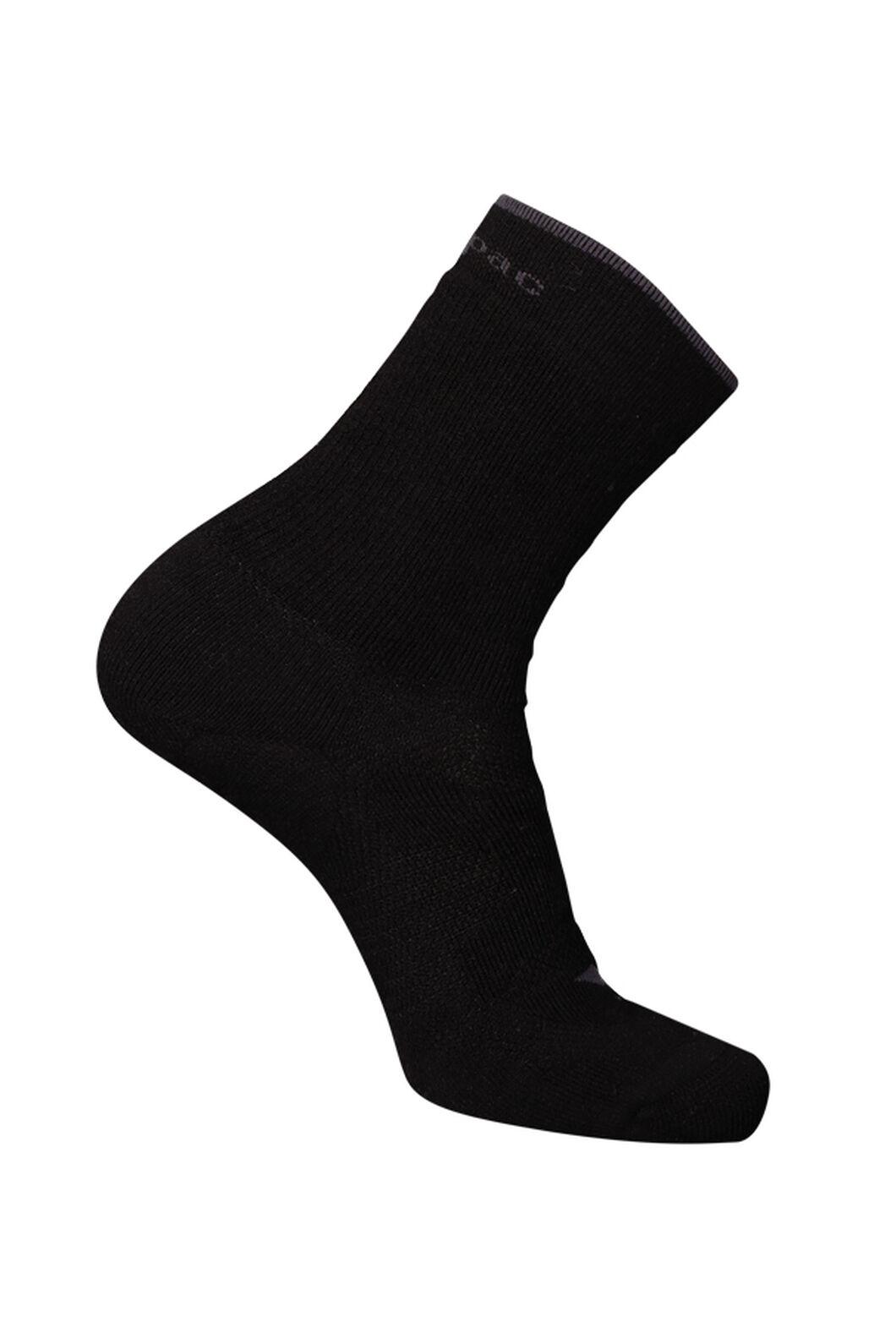 Macpac Merino Hiking Sock, Black, hi-res