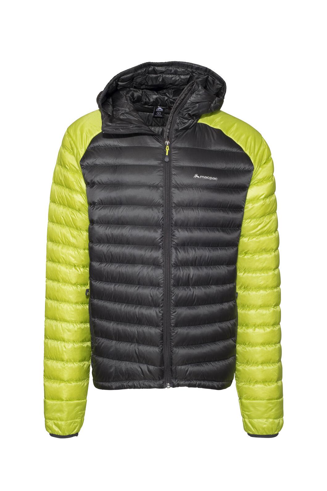 Macpac Icefall HyperDRY™ Hooded Jacket — Men's, Asphalt/Tendershoots, hi-res