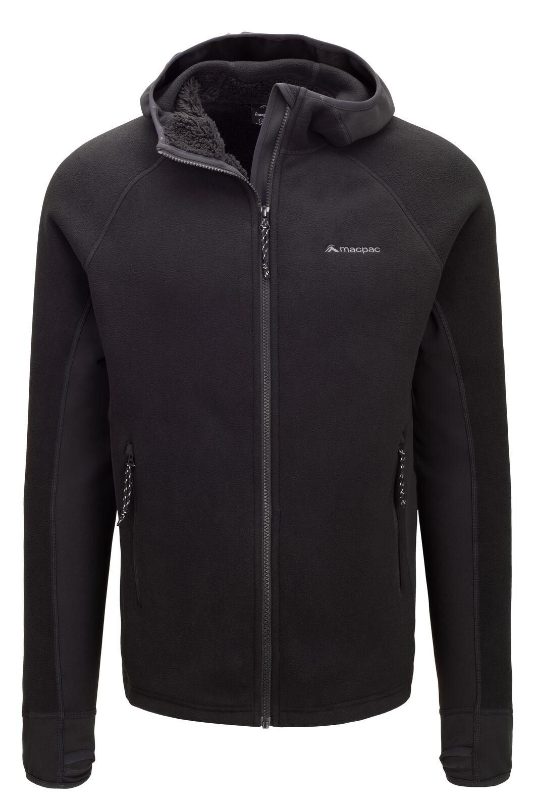 Macpac Men's Mountain Hooded Jacket, Black, hi-res