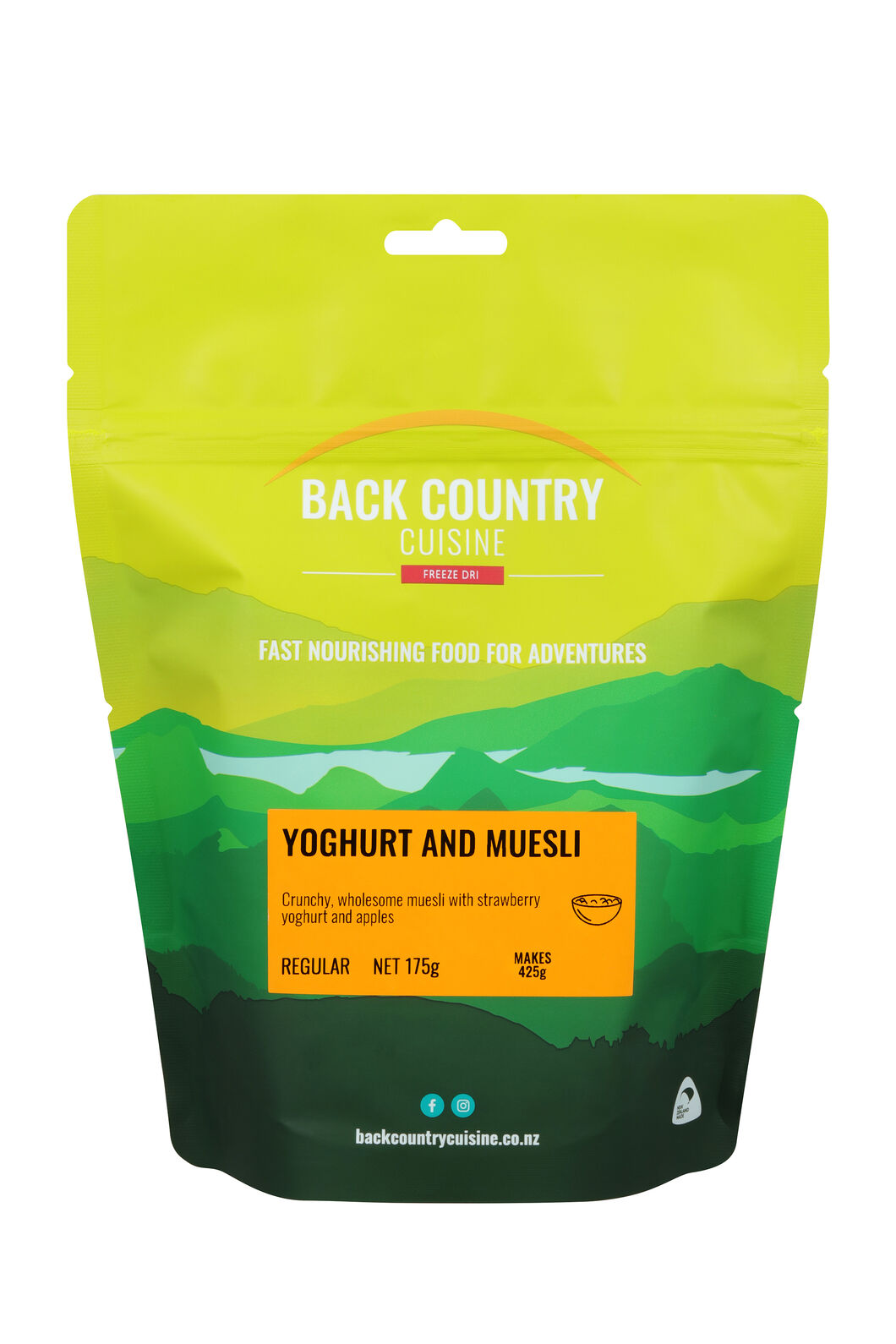 Back Country Yoghurt & Muesli — Regular Serve, None, hi-res