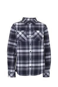 Macpac Milo Shirt - Kids', Black/Grey, hi-res