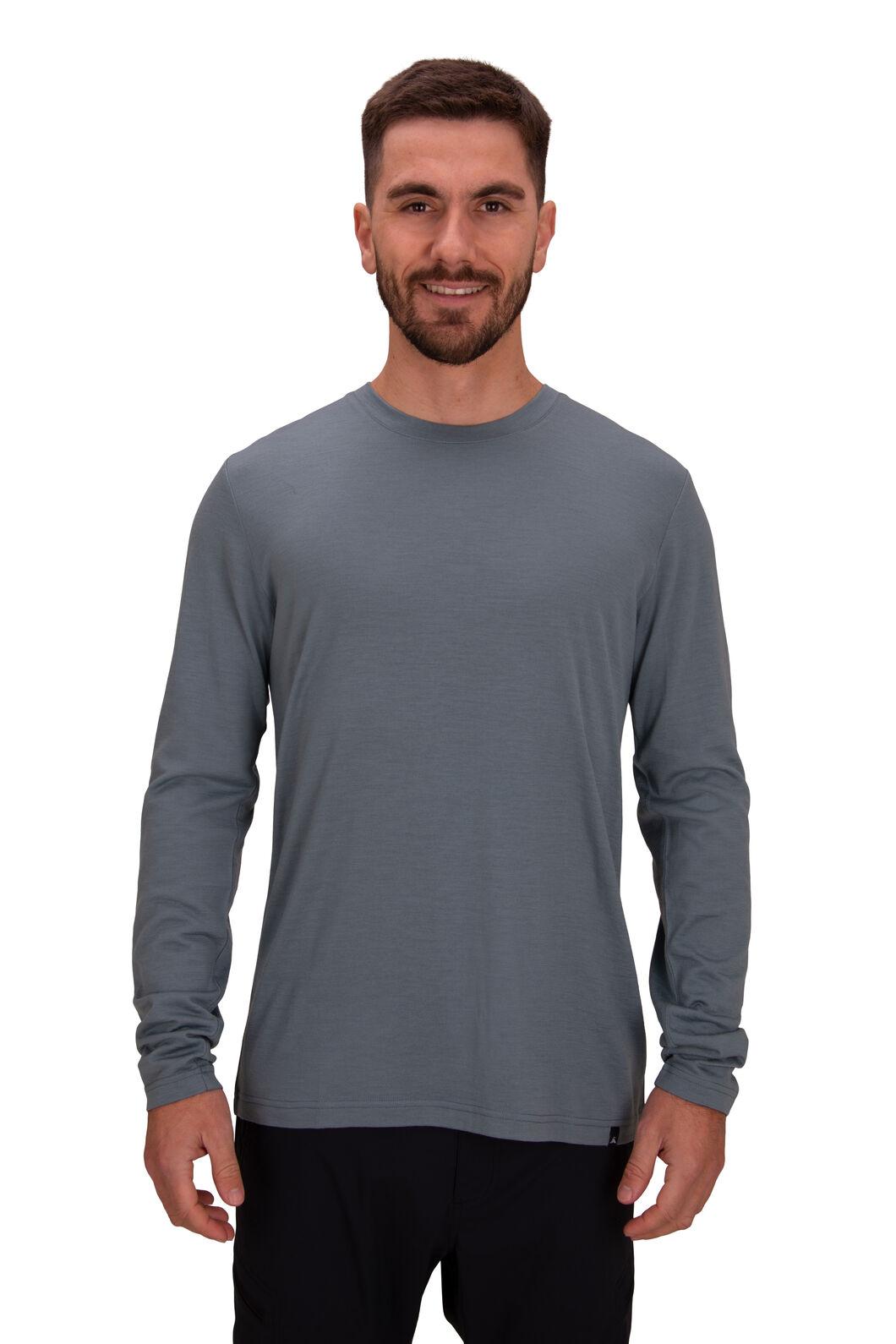 Macpac Men's Lyell 180 Merino Long Sleeve Tee, Trooper, hi-res