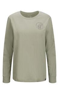 Macpac Since 1973 Fairtrade Organic Cotton Long Sleeve Tee — Women's, Desert Sage, hi-res