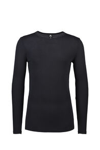 Macpac 220 Merino Long Sleeve Top — Men's, Black, hi-res