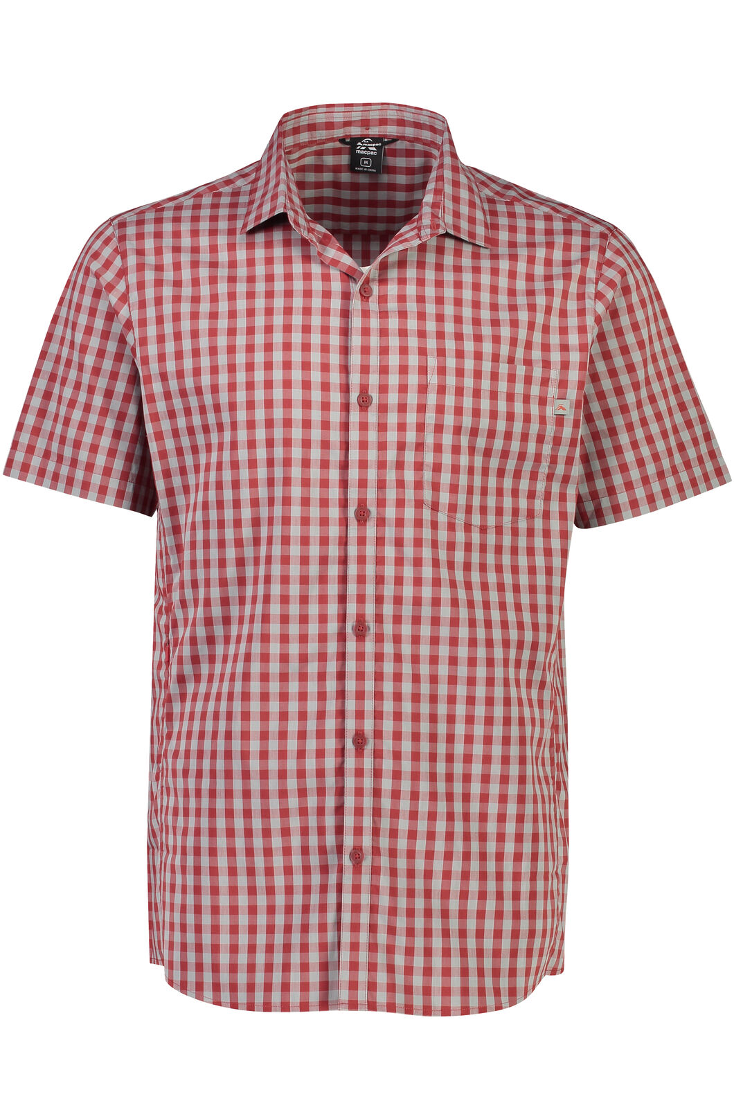 Macpac Crossroad Short Sleeve Shirt - Men's, Sundried Tomato, hi-res
