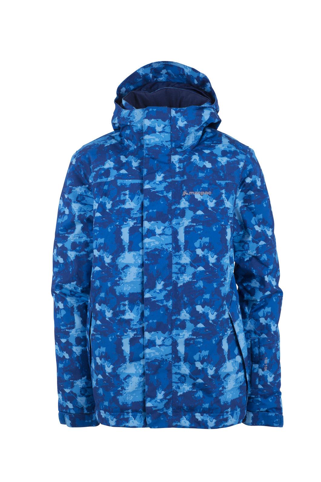 Macpac Spree Ski Jacket - Kids', Blue Print, hi-res