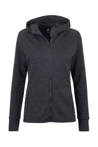 Macpac Ohau 320 Merino Hooded Jacket — Women's, Charcoal Marle, hi-res