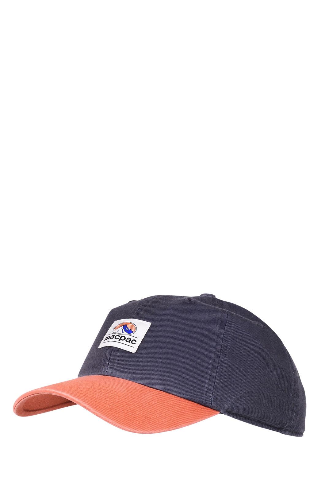Macpac Vintage Cap, Charcoal/Orange Patch, hi-res