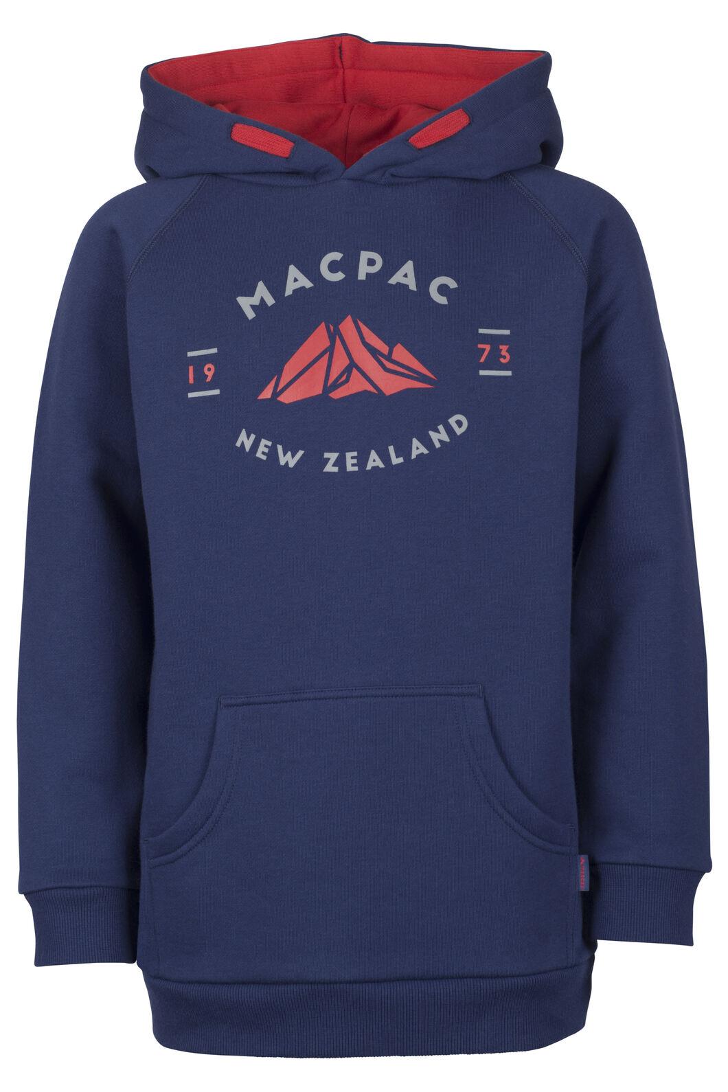 Macpac Organic Mountain Hoody - Kids', Medieval Blue, hi-res