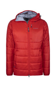 Macpac Pulsar Plus PrimaLoft® Hooded Jacket — Men's, Flame Scarlet, hi-res
