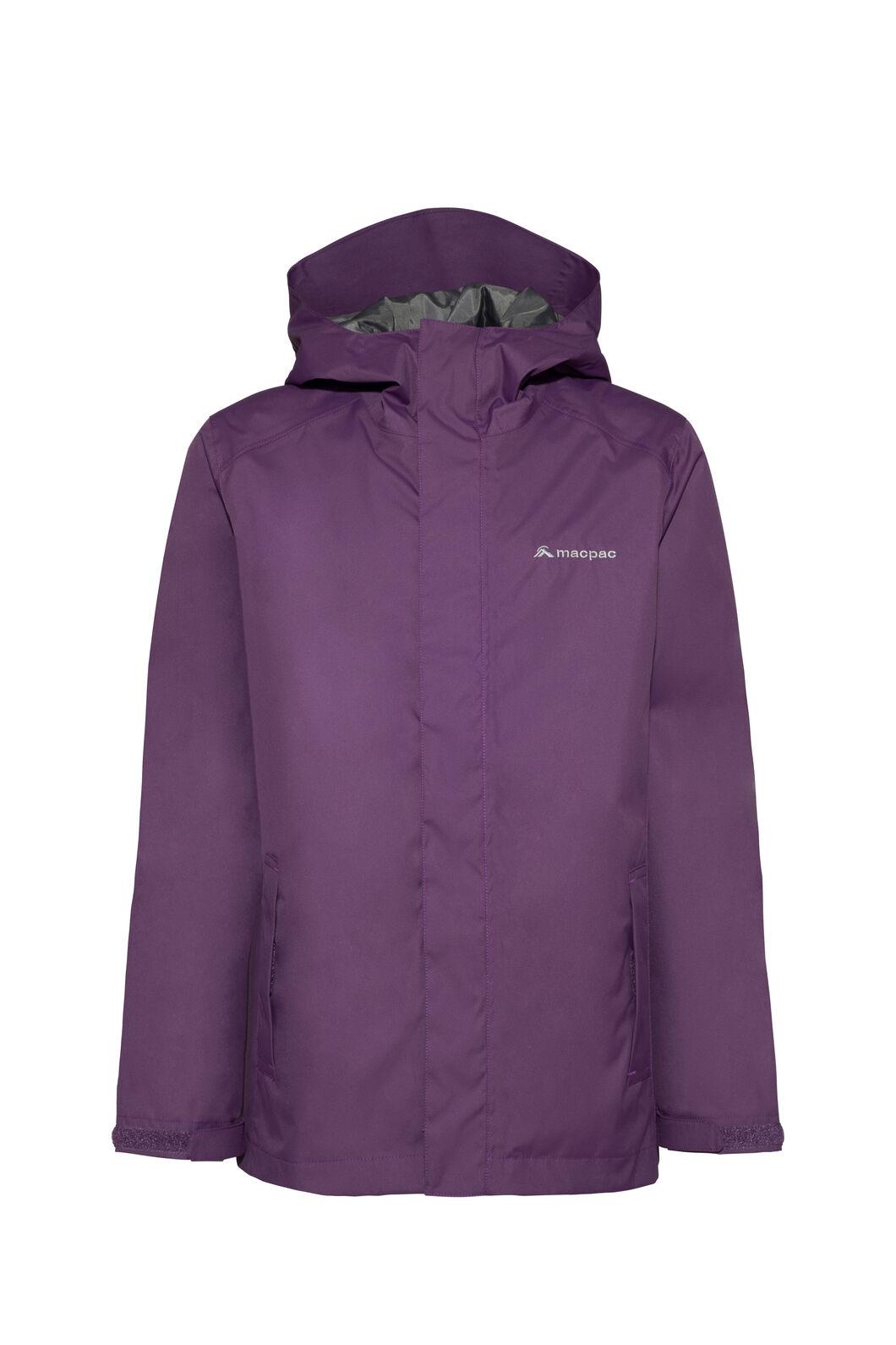 Macpac Jetstream Rain Jacket — Kids', Wineberry, hi-res