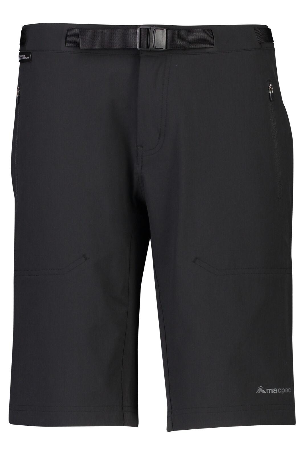 Macpac Trekker Pertex® Equilibrium Softshell Shorts - Women's, Black, hi-res