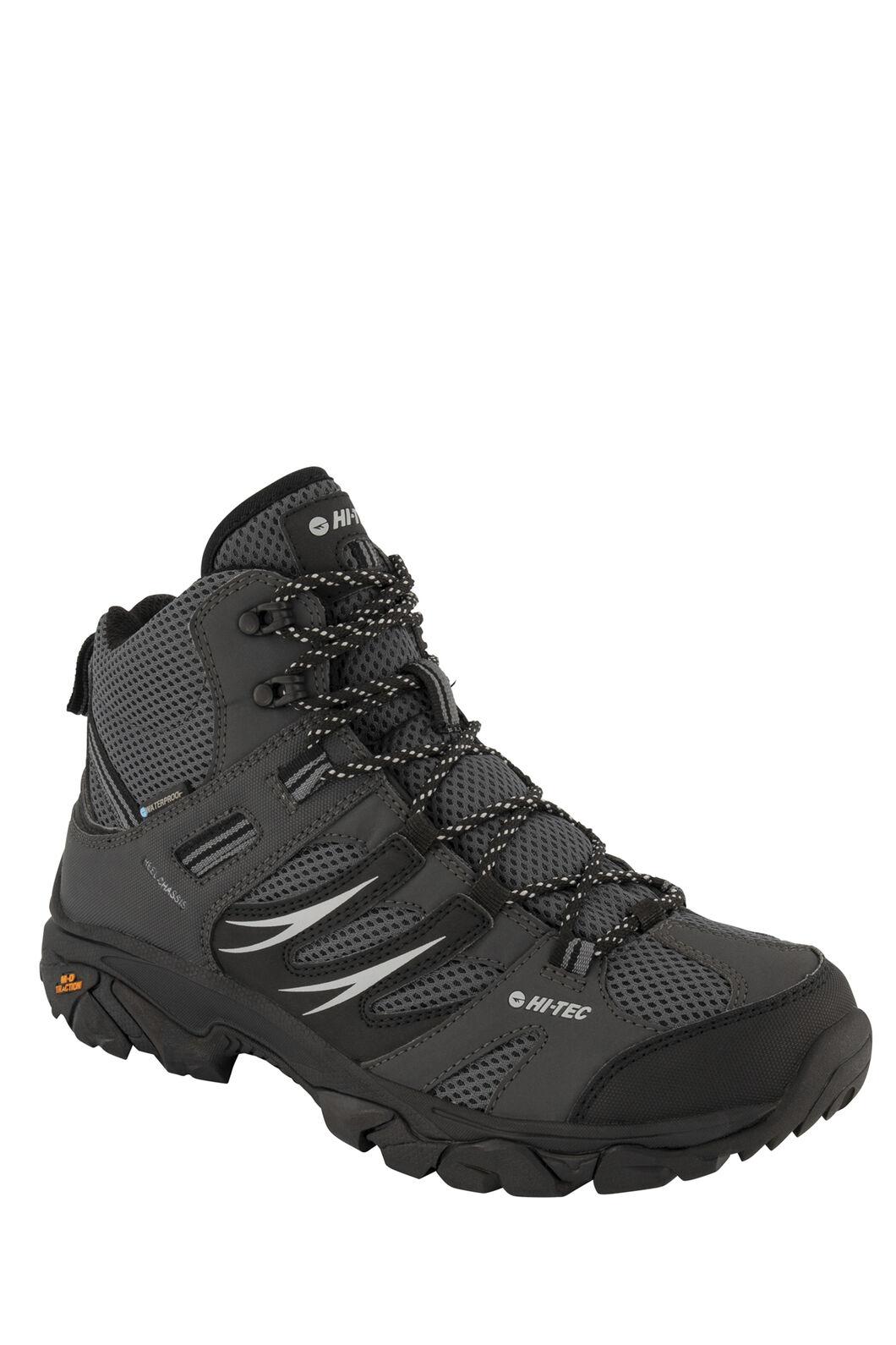 Hi-Tec Tarantula WP Mid Hiking Shoes — Men's, Charcoal/Black Steel Grey, hi-res