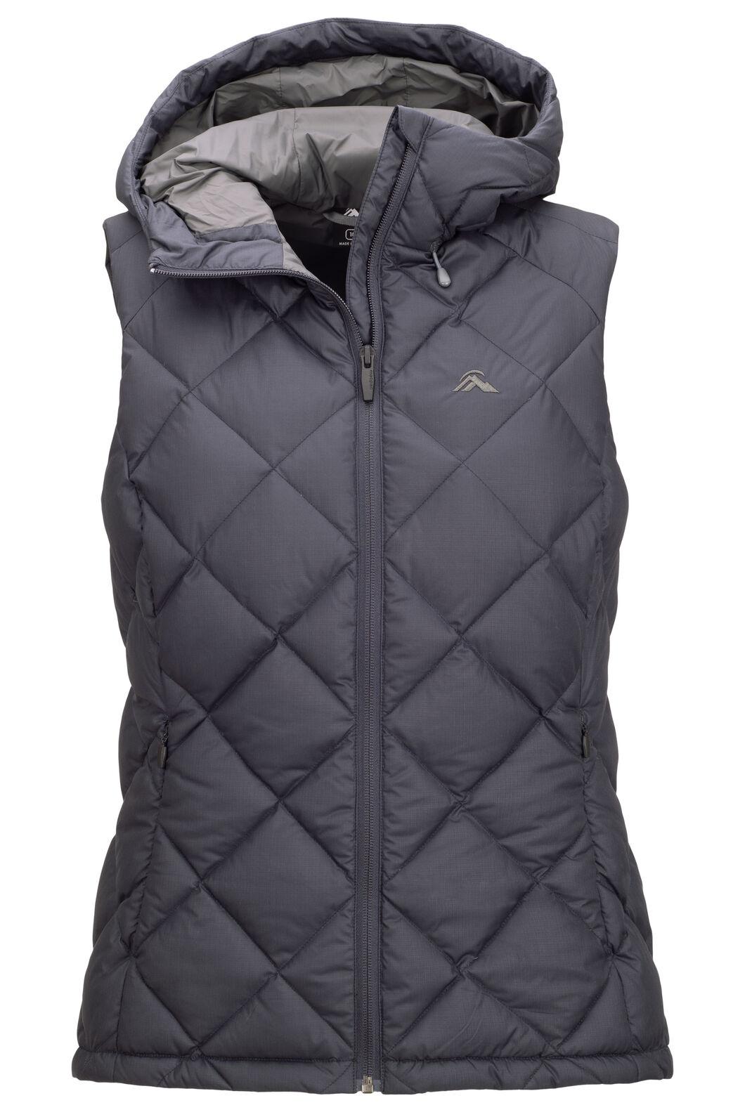 Macpac Zenith Hooded Down Vest — Women's, Carbon, hi-res