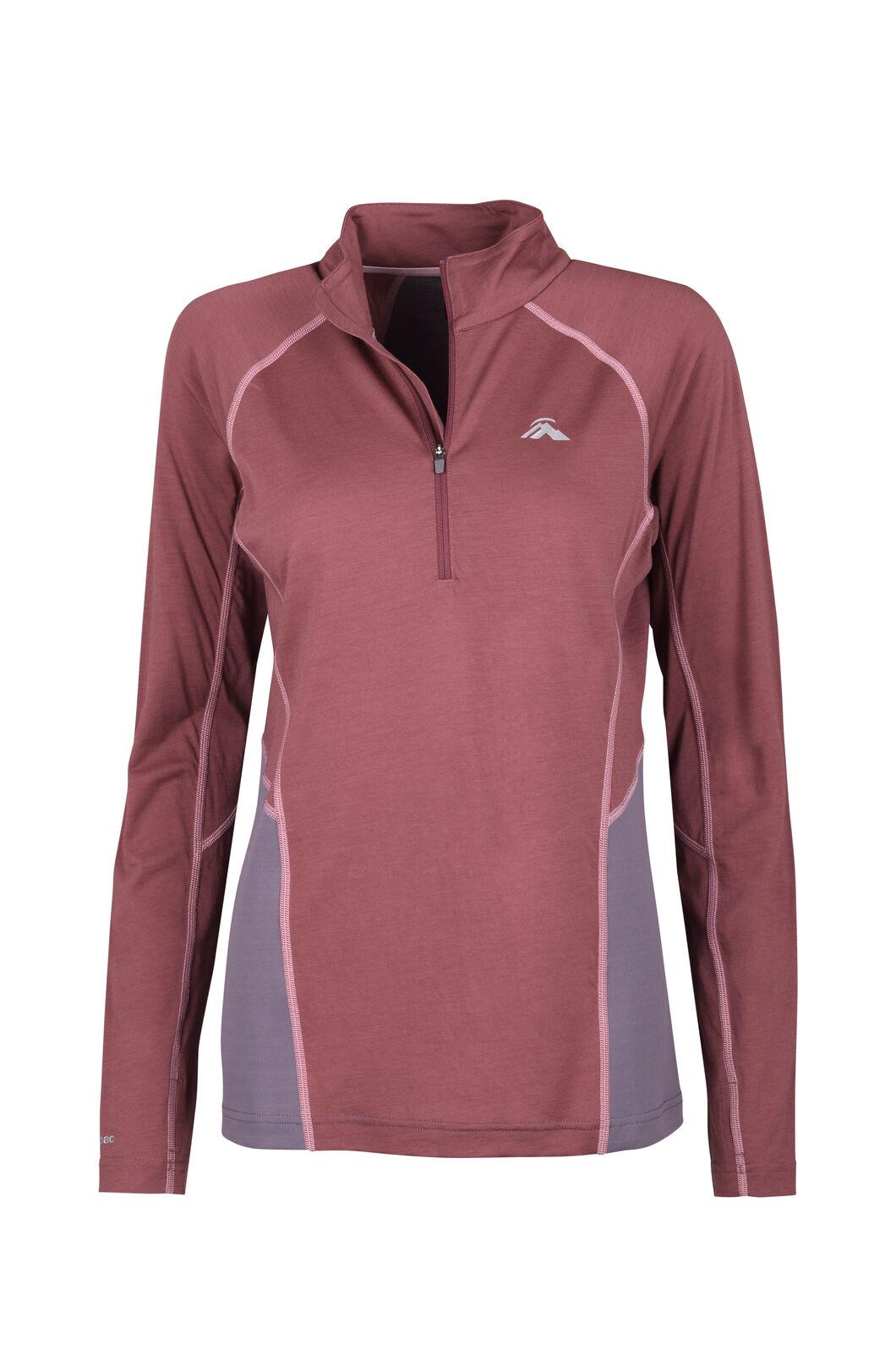 Macpac Casswell Long Sleeve Shirt — Women's, Wild Ginger/Shark, hi-res