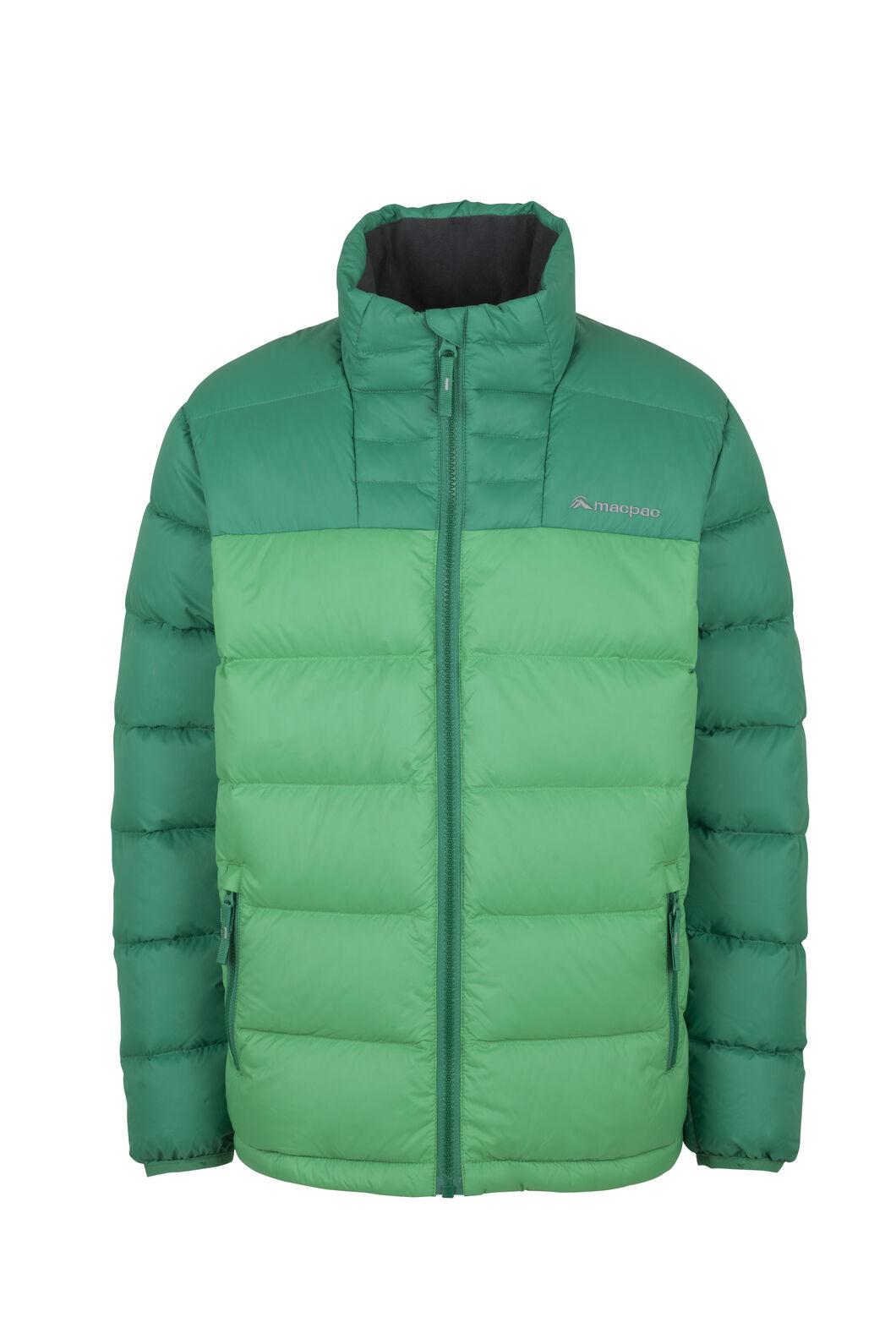 Macpac Atom Down Jacket - Kids', Bospherus/Bright Green, hi-res