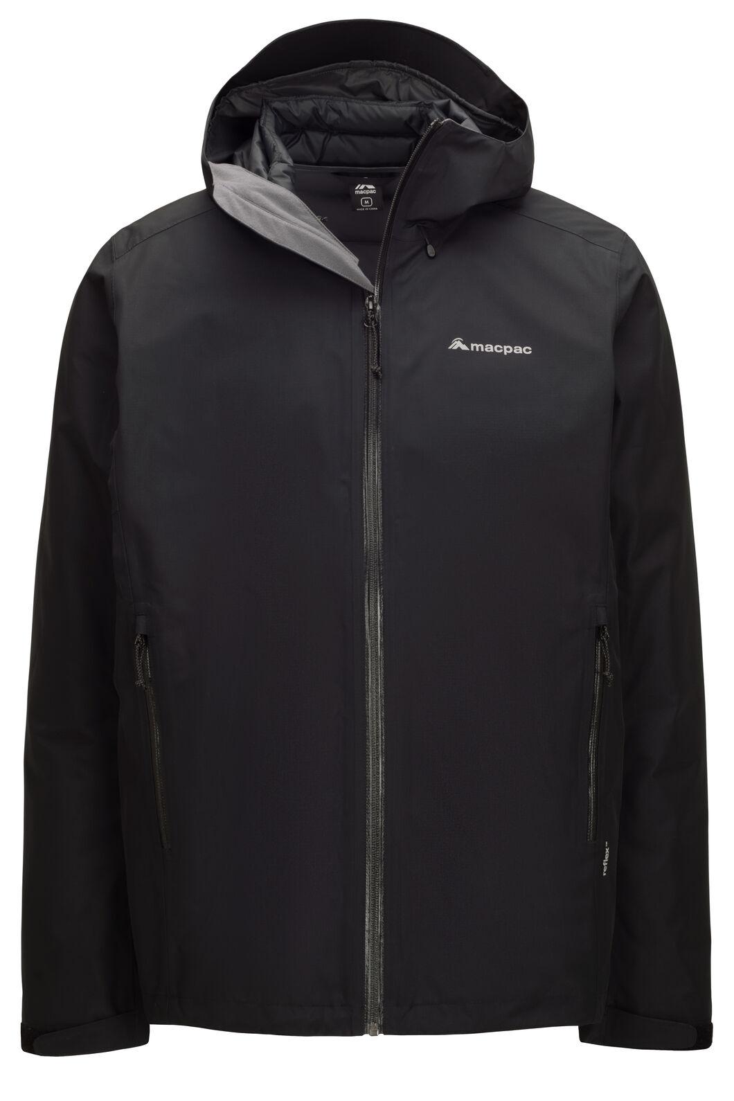Macpac Men's Névé Three-In-One Reflex™ Jacket, Black, hi-res