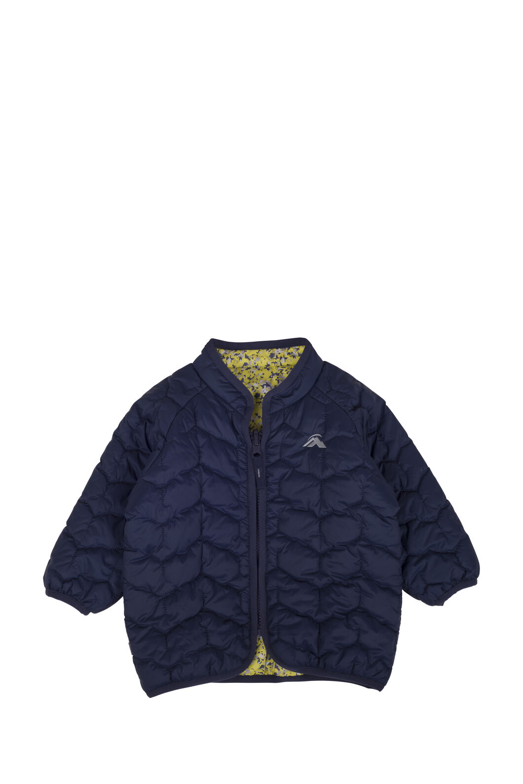 Macpac Pulsar PrimaLoft® Jacket - Baby, Black Iris/Citronelle, hi-res