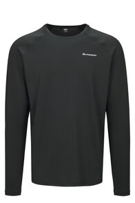 Macpac Eyre Long Sleeve Tee — Men's, True Black, hi-res