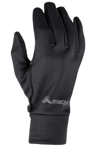 Macpac Stretch Gloves V2, Black, hi-res