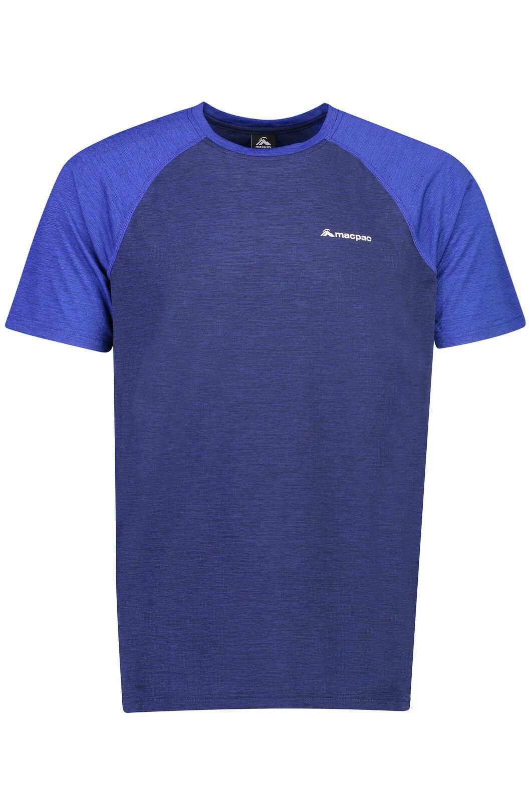 Macpac Take a Hike Short Sleeve Top - Men's, Medieval Blue, hi-res