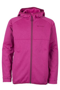 Macpac Kiwi Fleece Jacket - Kids', Sangria, hi-res