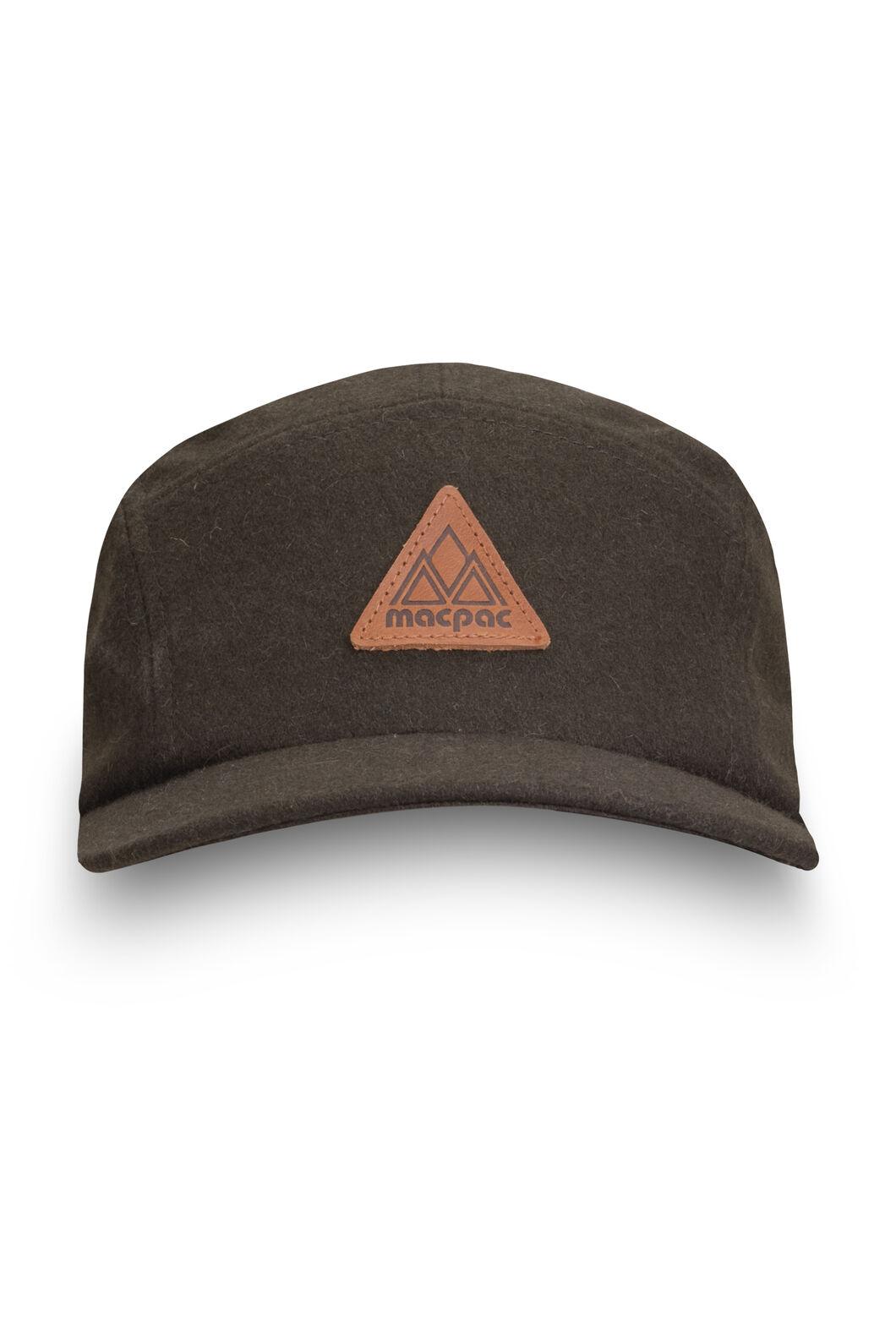 Macpac Wool Blend 5-Panel Hat, Green, hi-res