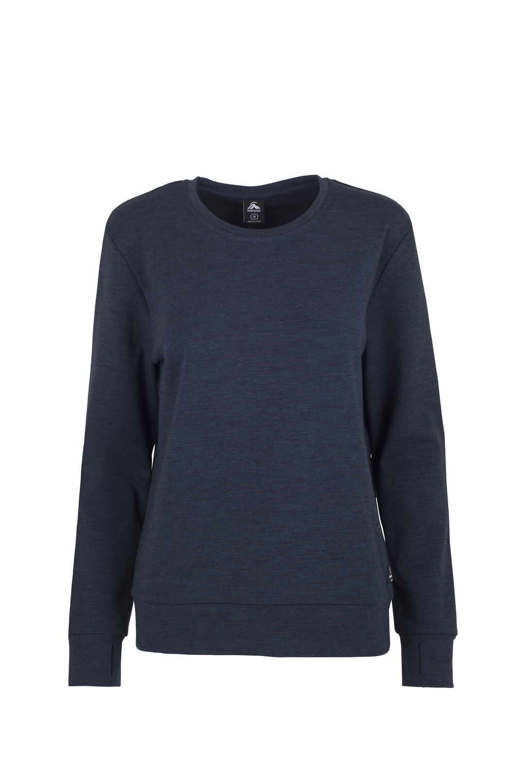 Macpac 280 Merino Long Sleeve Crew — Women's, Carbon Marle, hi-res