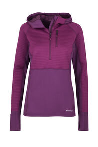 Macpac Delta Merino Blend Hooded Pullover — Women's, Magenta/Purple, hi-res