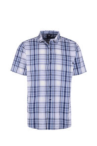 Macpac Crossroad Short Sleeve Shirt - Men's, Flint Stone, hi-res