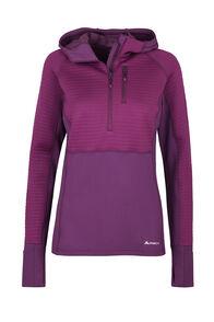 Macpac Delta Merino Blend Hooded Pullover — Women's, Magenta/Purple, hi-res