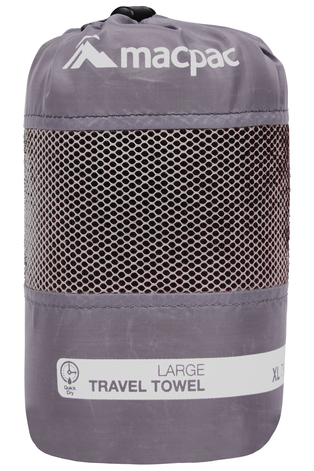 Macpac Travel Towel Large, Black, hi-res
