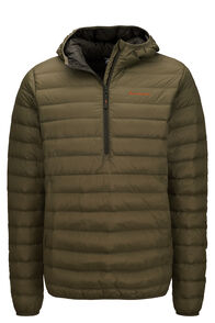 Macpac Uber Light Hooded Down Pullover — Men's, Olive Night, hi-res