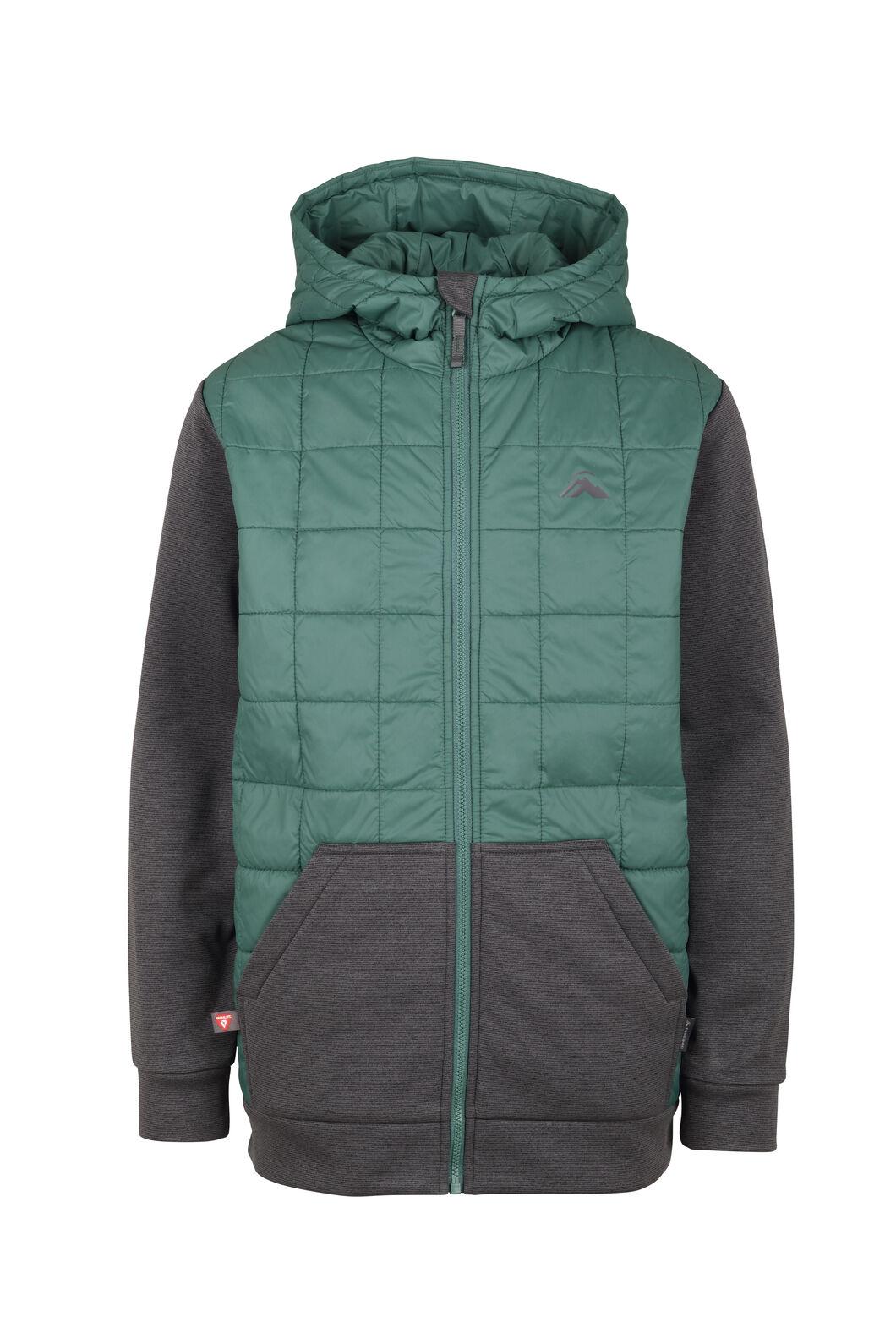 Macpac Campfire PrimaLoft® Hybrid Jacket - Kids', Bayberry/Asphalt, hi-res