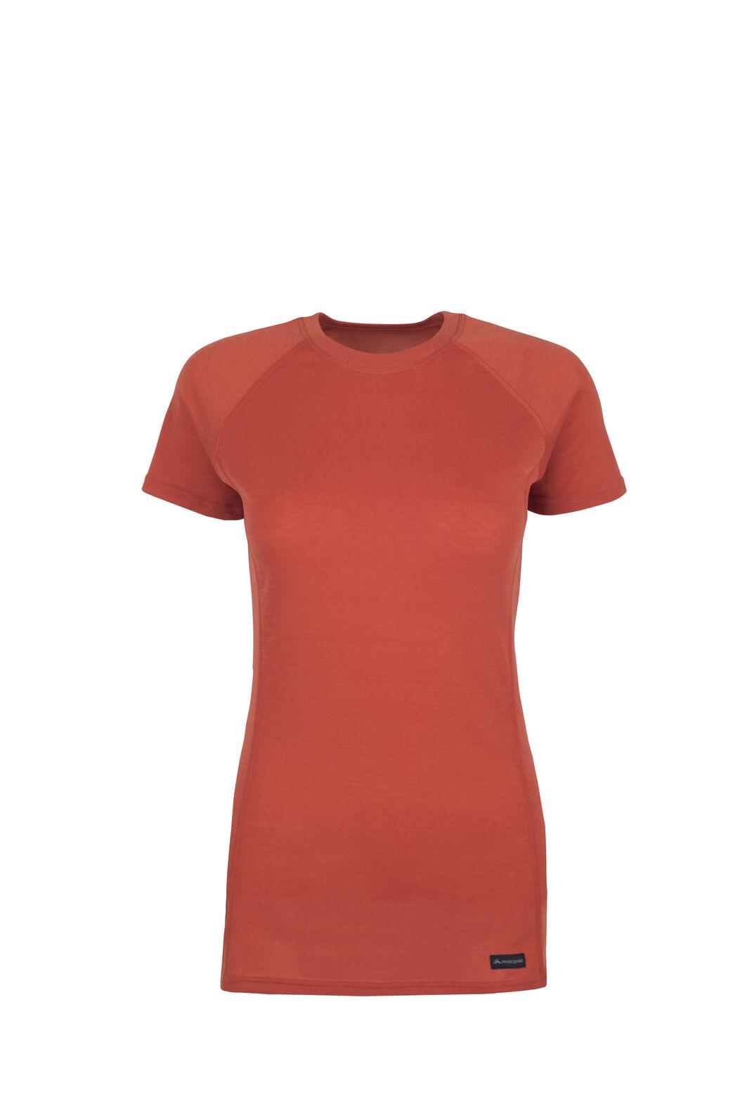 Macpac Geothermal Short Sleeve Top - Women's, Chilli, hi-res