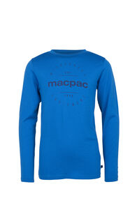 Macpac Merino 180 Long Sleeve Crew - Kids', Directoire, hi-res