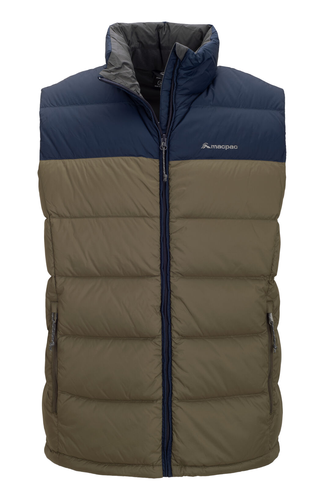 Macpac Halo Down Vest — Men's, Black Iris/Tarmac, hi-res