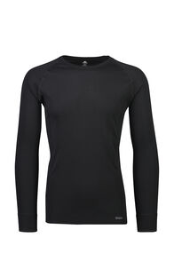Macpac Geothermal Long Sleeve Top — Men's, Black, hi-res