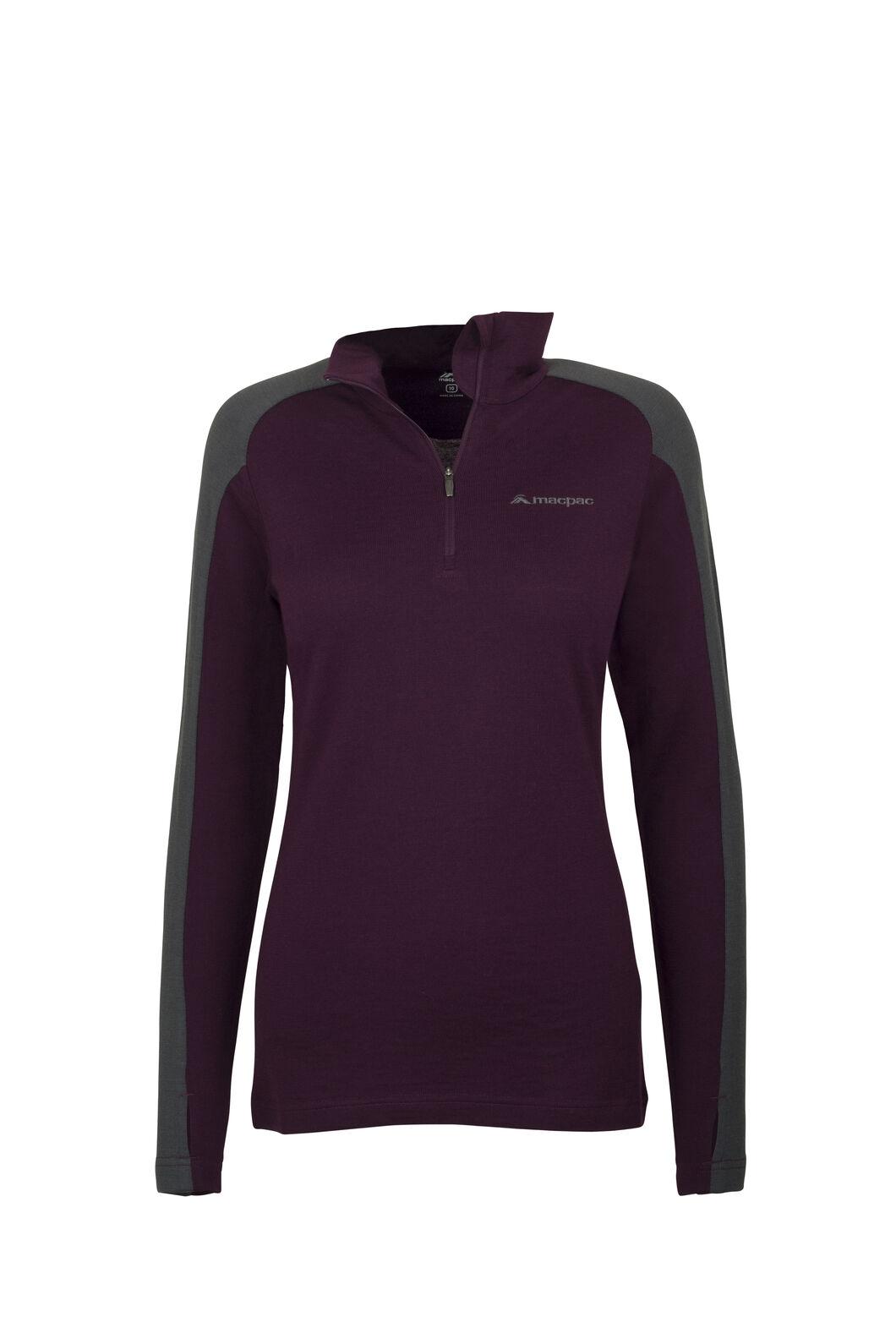 Macpac Kauri 280 Merino Pullover - Women's, Potent Purple, hi-res