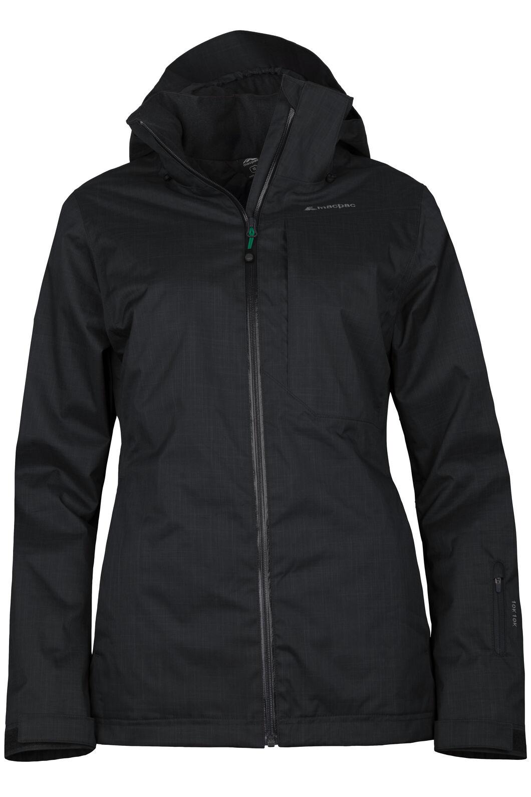 Powder Ski Jacket - Women's, Black/Black, hi-res