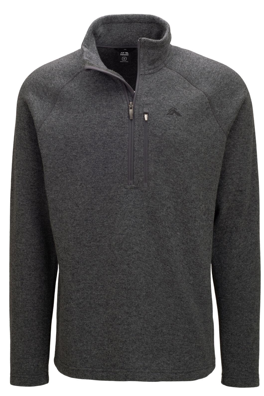 Macpac Men's Guyon Half Zip Pullover, Grey Marle, hi-res