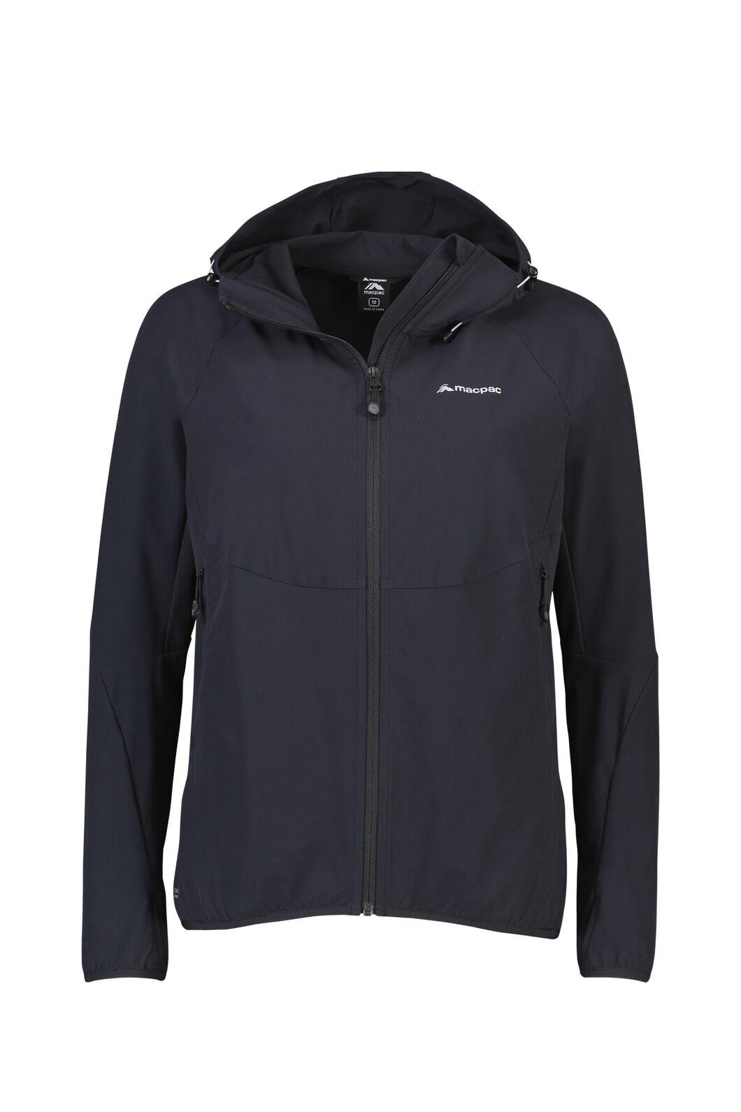 Macpac Mannering Pertex® Hooded Jacket — Women's, Black, hi-res