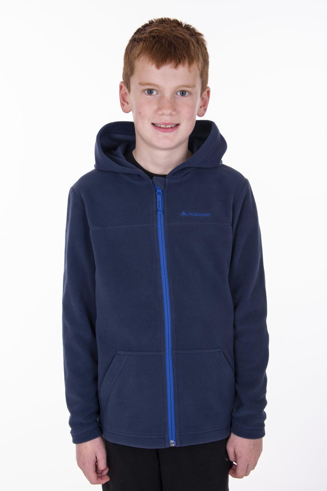 Macpac Tui Polartec® Fleece Jacket — Kids', Black Iris, hi-res